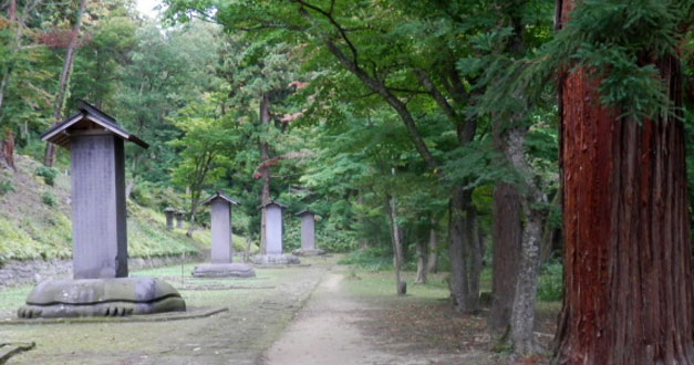 会津若松観光では、松平家墓所を紹介しています